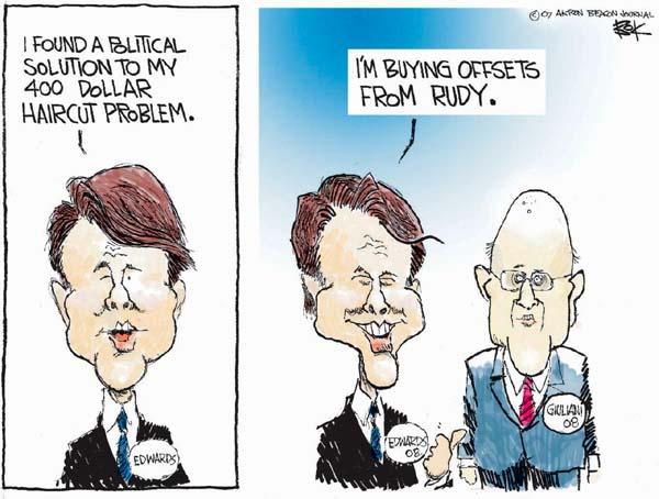 Chip Bok  Chip Bok's Editorial Cartoons 2007-04-27 Rudy Giuliani