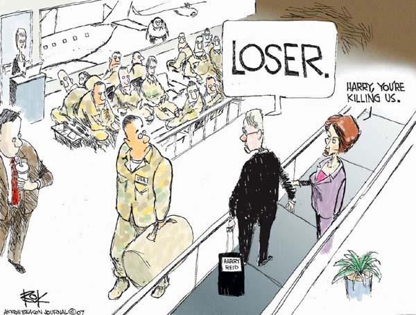 Cartoonist Chip Bok  Chip Bok's Editorial Cartoons 2007-04-30 Lost