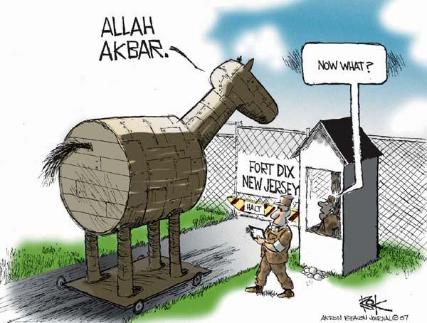 Cartoonist Chip Bok  Chip Bok's Editorial Cartoons 2007-05-09 attack