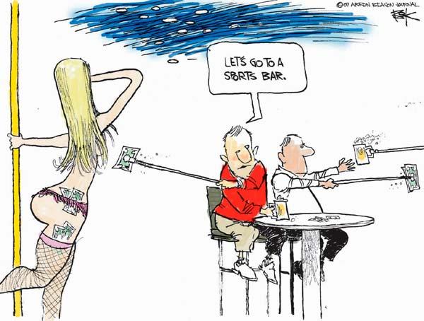 Cartoonist Chip Bok  Chip Bok's Editorial Cartoons 2007-05-14 distance