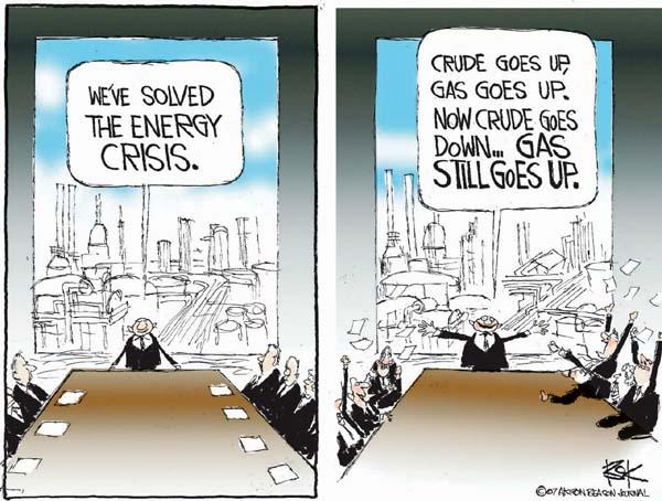 Cartoonist Chip Bok  Chip Bok's Editorial Cartoons 2007-05-15 energy supply