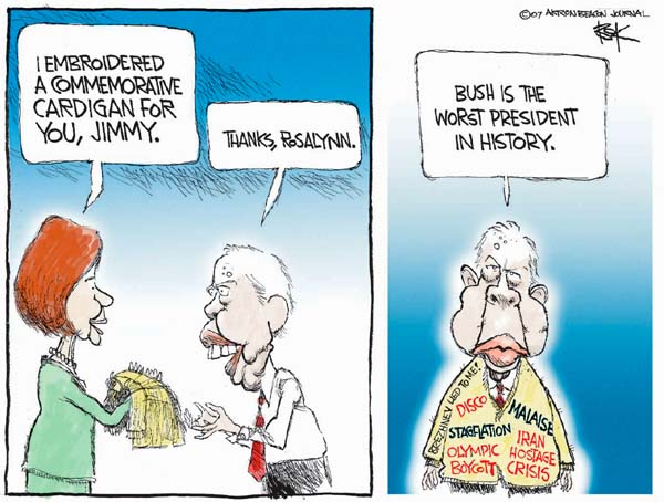 Cartoonist Chip Bok  Chip Bok's Editorial Cartoons 2007-05-29 Jimmy Carter
