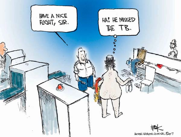 Cartoonist Chip Bok  Chip Bok's Editorial Cartoons 2007-05-31 air travel