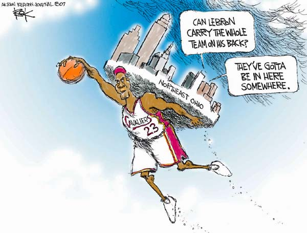 Cartoonist Chip Bok  Chip Bok's Editorial Cartoons 2007-06-07 professional sport