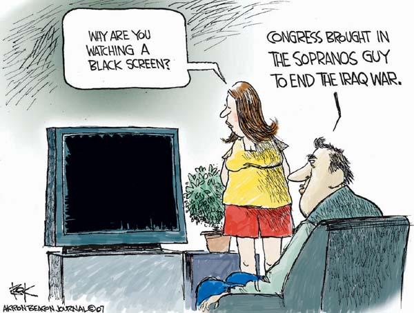 Chip Bok  Chip Bok's Editorial Cartoons 2007-06-12 watch television