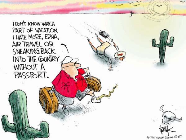 Cartoonist Chip Bok  Chip Bok's Editorial Cartoons 2007-06-22 travel