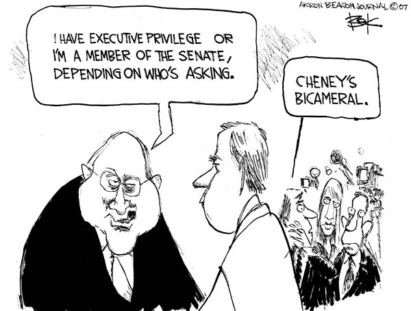 Chip Bok  Chip Bok's Editorial Cartoons 2007-07-03 separation of powers