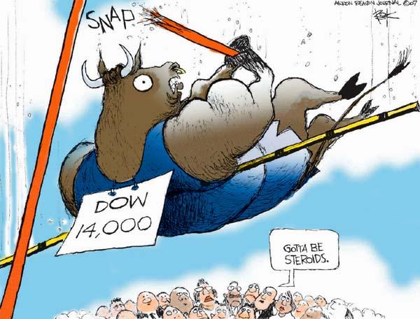 Chip Bok  Chip Bok's Editorial Cartoons 2007-07-30 stock market