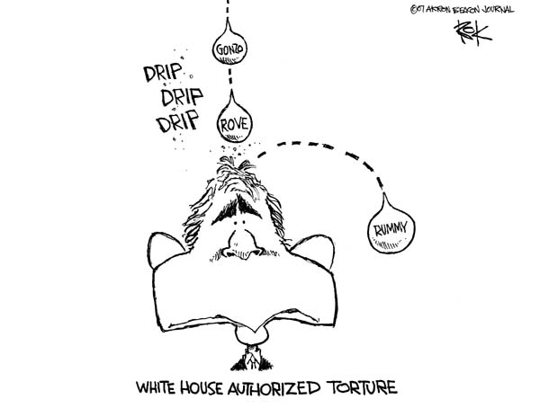 Cartoonist Chip Bok  Chip Bok's Editorial Cartoons 2007-08-29 Secretary of Defense