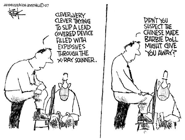 Cartoonist Chip Bok  Chip Bok's Editorial Cartoons 2007-09-06 point
