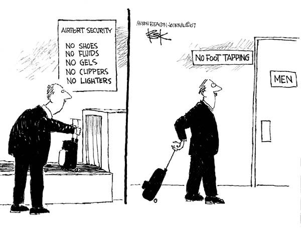 Cartoonist Chip Bok  Chip Bok's Editorial Cartoons 2007-09-10 air travel