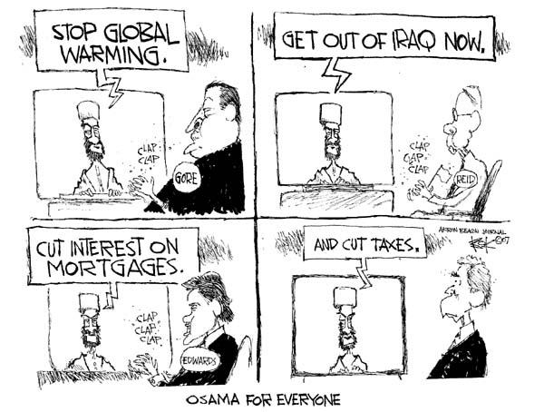Cartoonist Chip Bok  Chip Bok's Editorial Cartoons 2007-09-12 former president