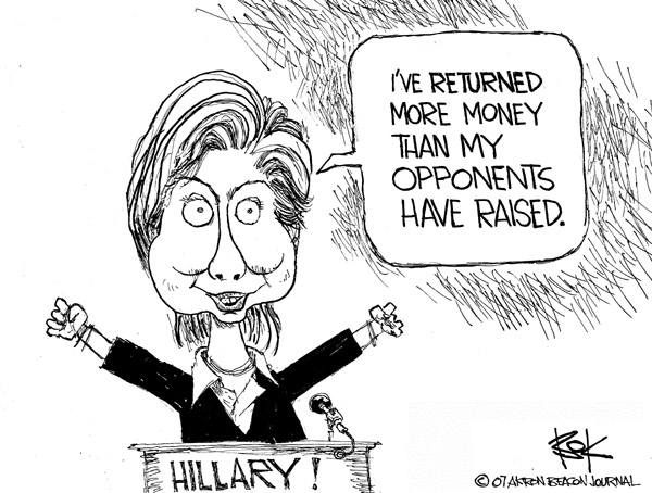 Chip Bok  Chip Bok's Editorial Cartoons 2007-09-14 opponent