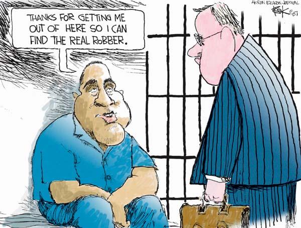 Chip Bok  Chip Bok's Editorial Cartoons 2007-09-20 jail