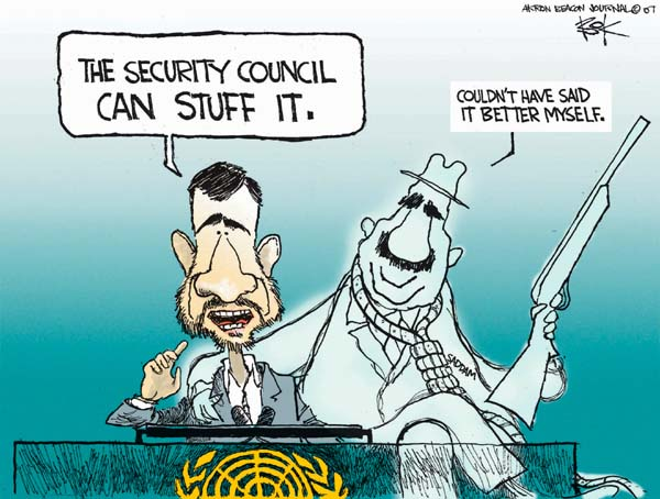 Cartoonist Chip Bok  Chip Bok's Editorial Cartoons 2007-09-27 Saddam Hussein