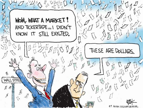 Chip Bok  Chip Bok's Editorial Cartoons 2007-10-03 Financial Market