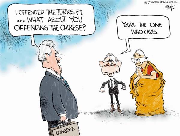 Cartoonist Chip Bok  Chip Bok's Editorial Cartoons 2007-10-19 international relations