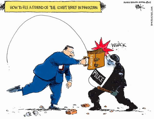 Chip Bok  Chip Bok's Editorial Cartoons 2007-11-13 rule of law