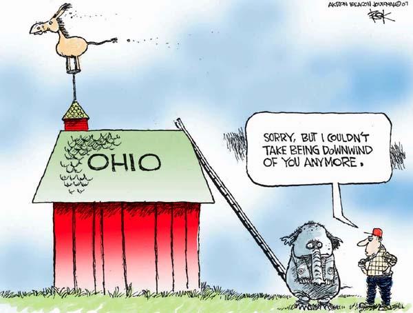 Cartoonist Chip Bok  Chip Bok's Editorial Cartoons 2007-11-16 republican
