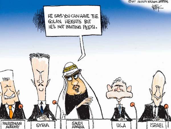 Cartoonist Chip Bok  Chip Bok's Editorial Cartoons 2007-11-28 Israel Palestine