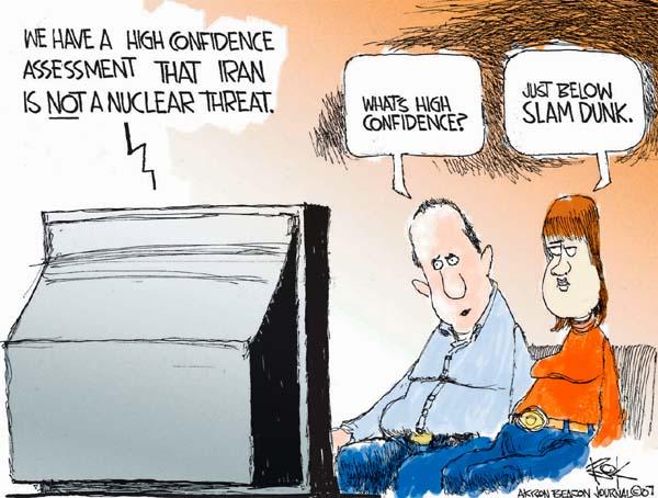 Cartoonist Chip Bok  Chip Bok's Editorial Cartoons 2007-12-06 integrity