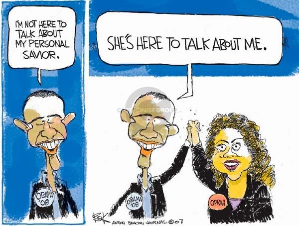 Cartoonist Chip Bok  Chip Bok's Editorial Cartoons 2007-12-18 endorsement