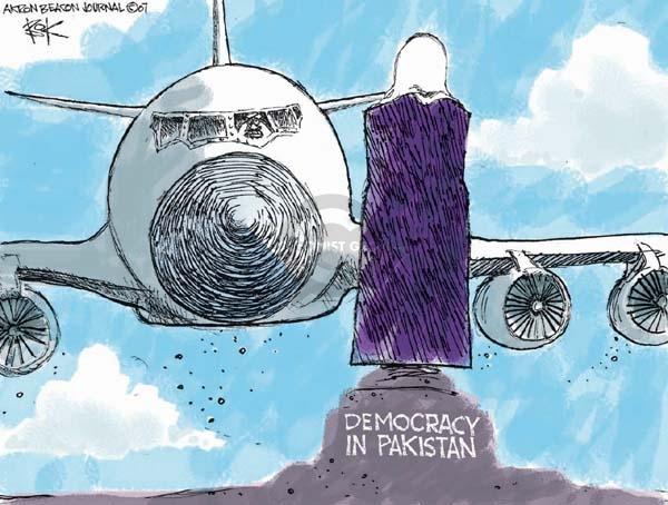 Cartoonist Chip Bok  Chip Bok's Editorial Cartoons 2007-12-31 attack