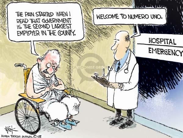 Cartoonist Chip Bok  Chip Bok's Editorial Cartoons 2008-01-02 pain