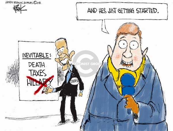 Cartoonist Chip Bok  Chip Bok's Editorial Cartoons 2008-01-08 death and taxes
