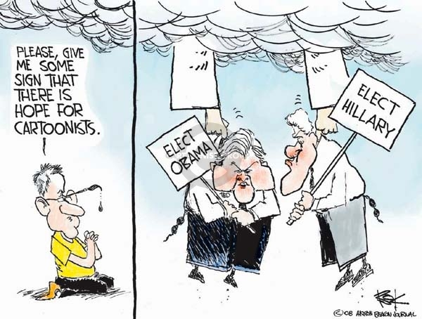 Cartoonist Chip Bok  Chip Bok's Editorial Cartoons 2008-01-30 democratic candidate
