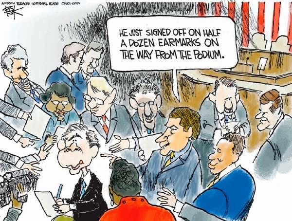 Cartoonist Chip Bok  Chip Bok's Editorial Cartoons 2008-01-31 state legislation