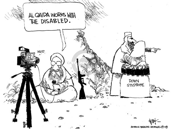 Cartoonist Chip Bok  Chip Bok's Editorial Cartoons 2008-02-06 terror