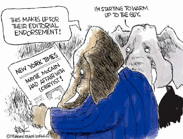 Cartoonist Chip Bok  Chip Bok's Editorial Cartoons 2008-02-25 political lobby