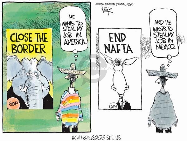 Cartoonist Chip Bok  Chip Bok's Editorial Cartoons 2008-03-03 end