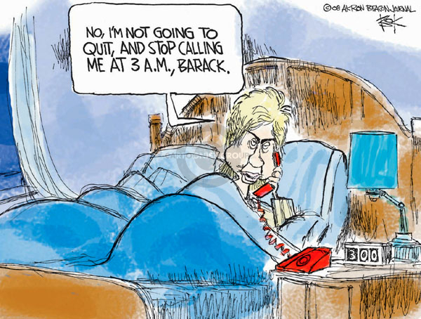 Cartoonist Chip Bok  Chip Bok's Editorial Cartoons 2008-03-06 democratic candidate