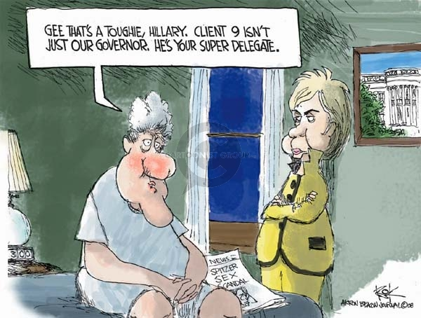 Cartoonist Chip Bok  Chip Bok's Editorial Cartoons 2008-03-12 democratic candidate