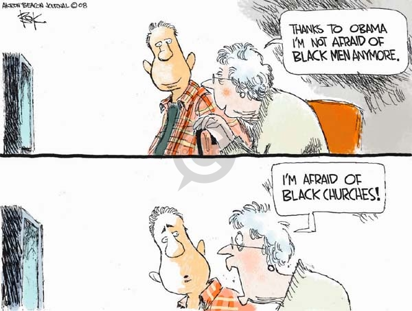 Chip Bok  Chip Bok's Editorial Cartoons 2008-03-24 racism