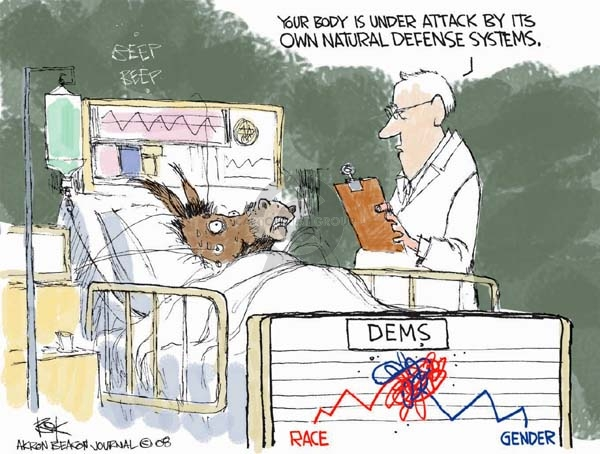 Cartoonist Chip Bok  Chip Bok's Editorial Cartoons 2008-04-02 democratic candidate