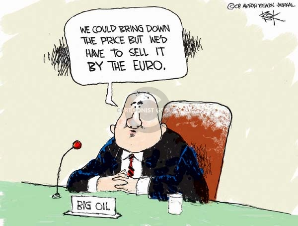 Chip Bok  Chip Bok's Editorial Cartoons 2008-04-03 oil