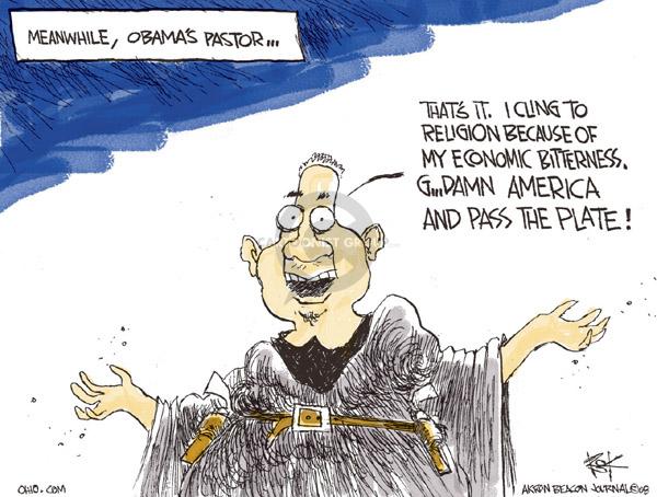 Cartoonist Chip Bok  Chip Bok's Editorial Cartoons 2008-04-16 democratic candidate
