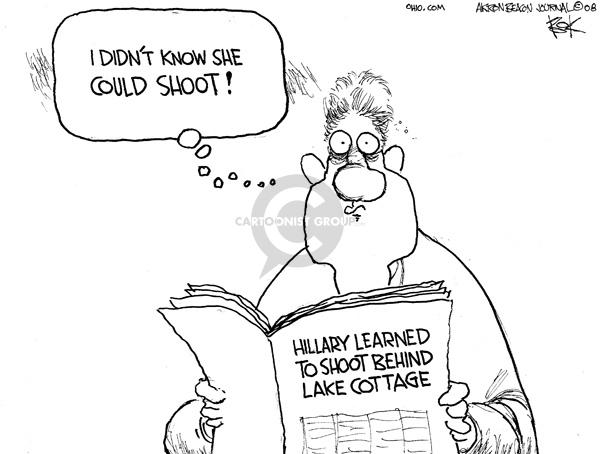 Cartoonist Chip Bok  Chip Bok's Editorial Cartoons 2008-04-23 former president
