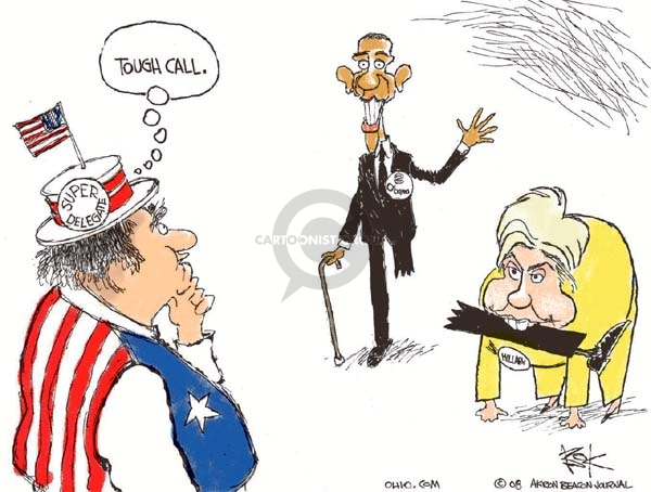 Cartoonist Chip Bok  Chip Bok's Editorial Cartoons 2008-04-28 democratic candidate