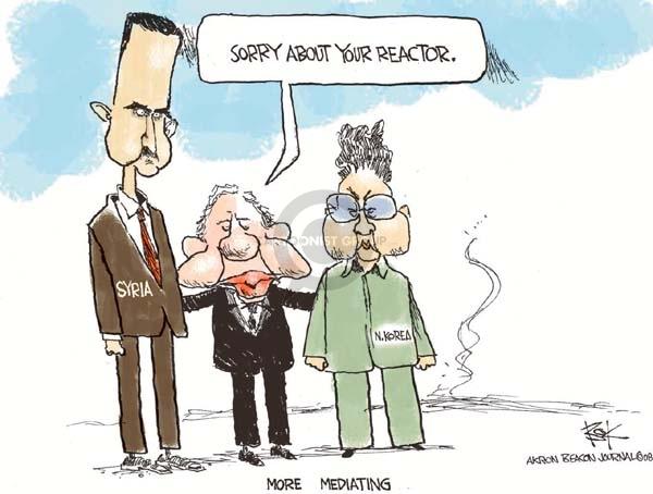 Cartoonist Chip Bok  Chip Bok's Editorial Cartoons 2008-04-29 former president