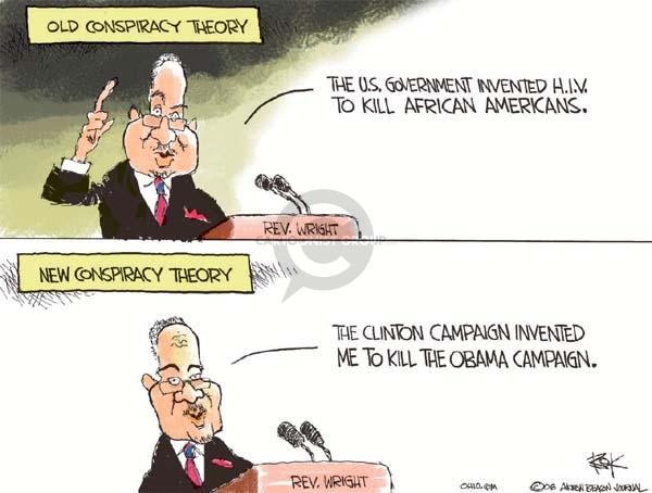 Cartoonist Chip Bok  Chip Bok's Editorial Cartoons 2008-04-30 democratic candidate