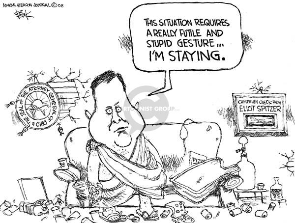 Chip Bok  Chip Bok's Editorial Cartoons 2008-05-07 stay