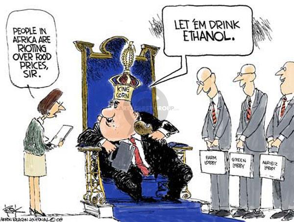 Cartoonist Chip Bok  Chip Bok's Editorial Cartoons 2008-05-09 ethanol