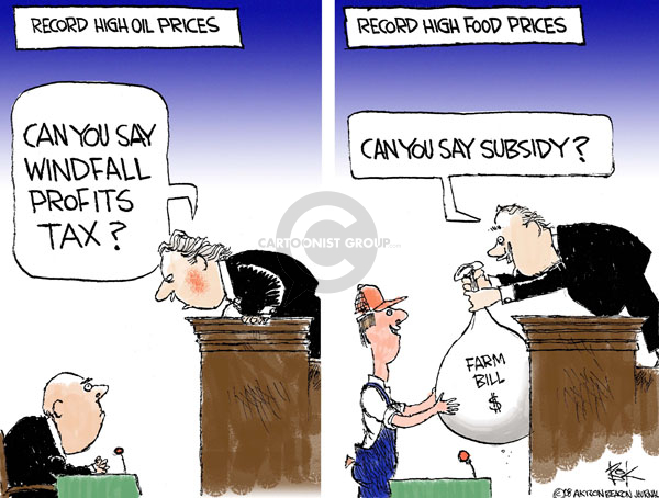 Chip Bok  Chip Bok's Editorial Cartoons 2008-05-16 agriculture