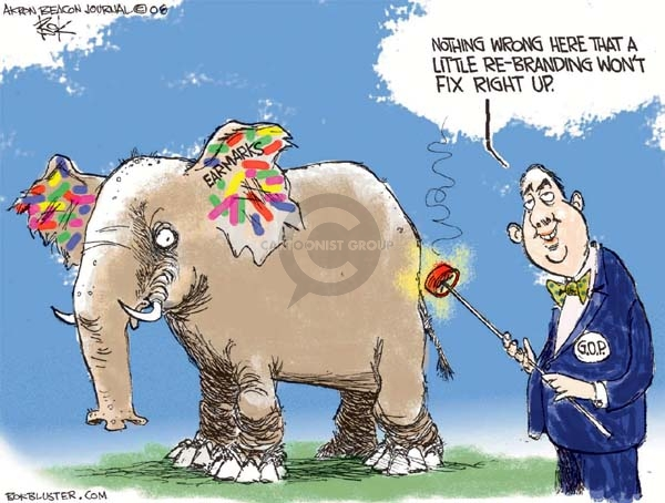 Cartoonist Chip Bok  Chip Bok's Editorial Cartoons 2008-05-19 republican party
