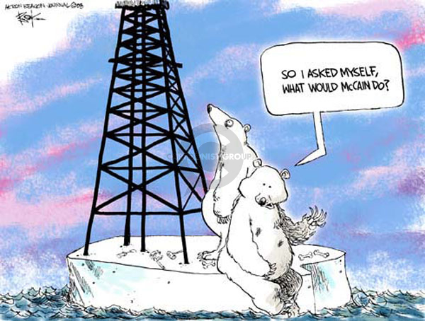 Cartoonist Chip Bok  Chip Bok's Editorial Cartoons 2008-06-23 oil drilling