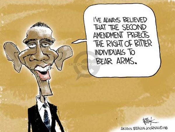 Cartoonist Chip Bok  Chip Bok's Editorial Cartoons 2008-06-30 gun rights